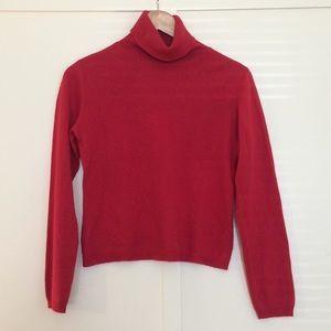 Red Silk/Cashmere Turtleneck